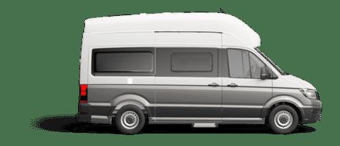 Volkswagen Grand California 600 Lackierung Candy-Weiß/Mojave Beige Metallic
