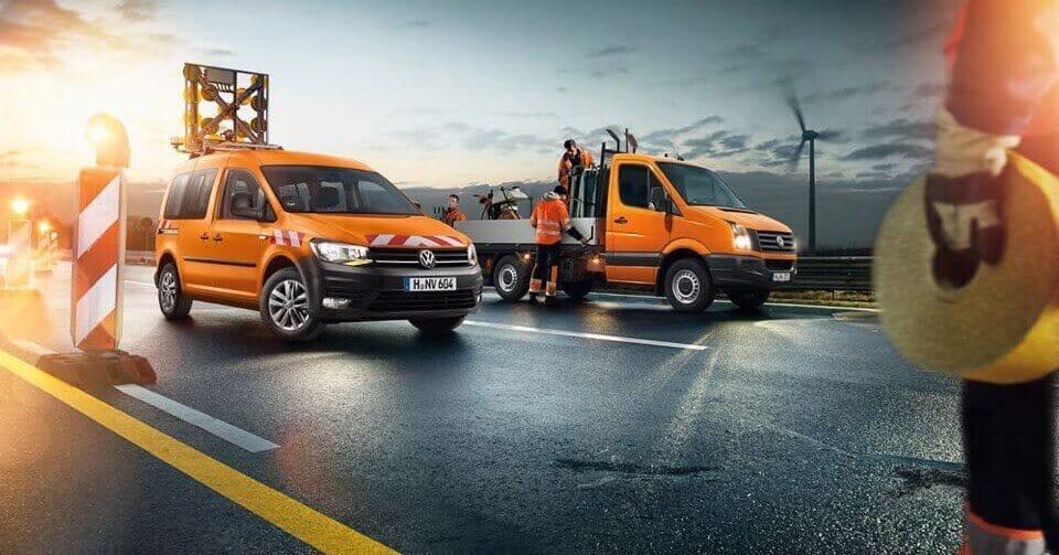 Volkswagen Bild von Behördenfahrzeugen für Straßendienst