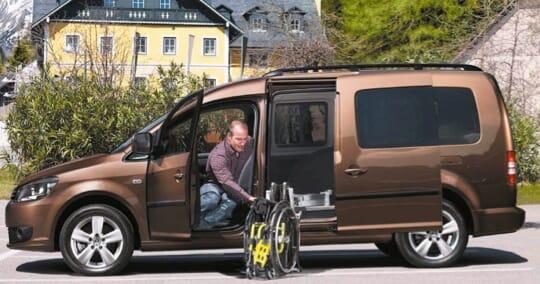 Volkswagen Caddy mit Kassettenlift