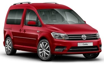VW Caddy 4 Rot