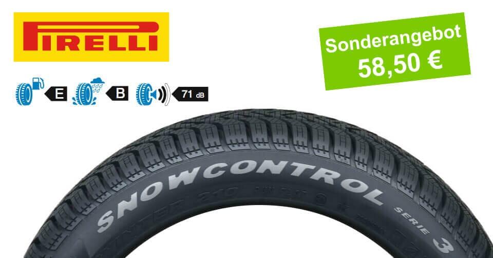 Winterreifen 195/65R15 91T Pirelli Snowcontrol Serie-3. 58,50€ statt 65,00€
