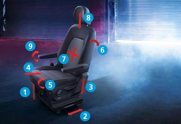 Der neue VW Crafter ergoComfort Fahrersitz