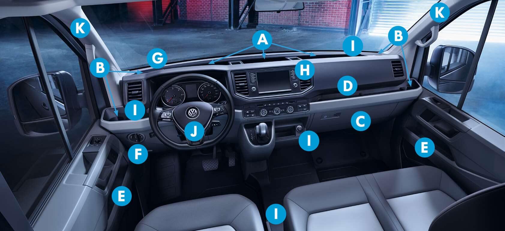 Der neue Volkswagen Crafter Fahrerkabine und Armaturenbrett