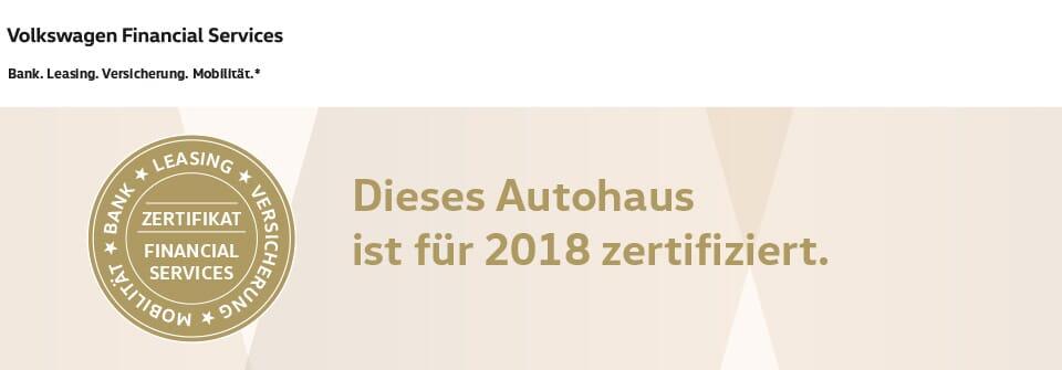 Dieses Autohaus ist für 2018 zertifiziert