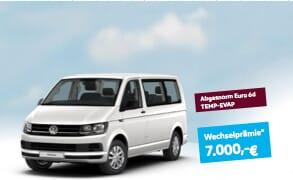 Umweltprämie und Wechselprämie Volkswagen Multivan München