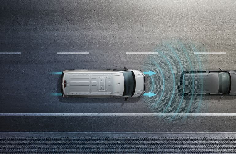 Volkswagen Crafter Fahrerassistenzsysteme - Automatische Distanzregelung ACC