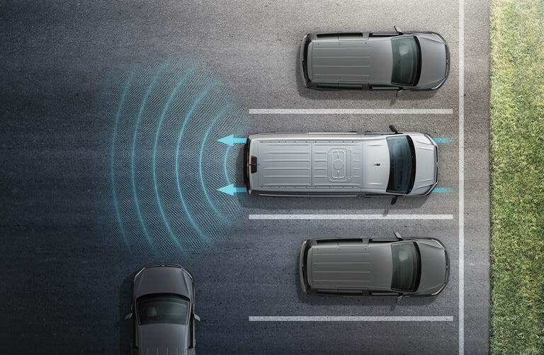 Volkswagen Crafter Fahrerassistenzsysteme - Blind Spot Sensor inklusive Ausparkassistent