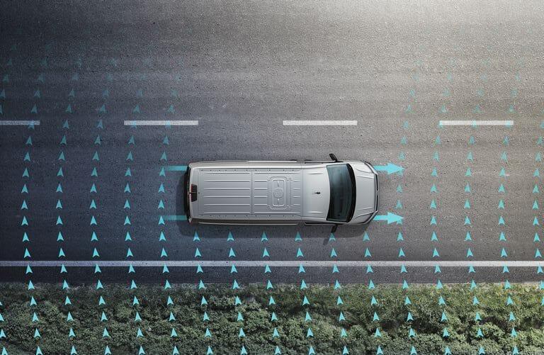 Volkswagen Crafter Fahrerassistenzsysteme - Seitenwindassistent