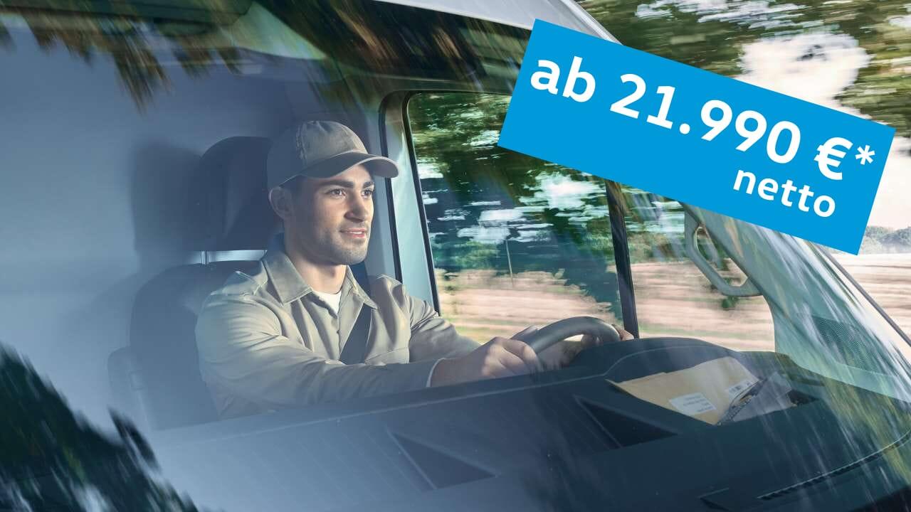 Volkswagen Crafter Fahrer mit MAHAG Angebot