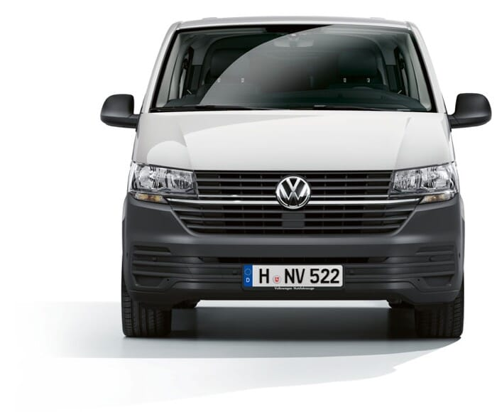 VW Transporter 6.1 Weiß Frontaufnahme