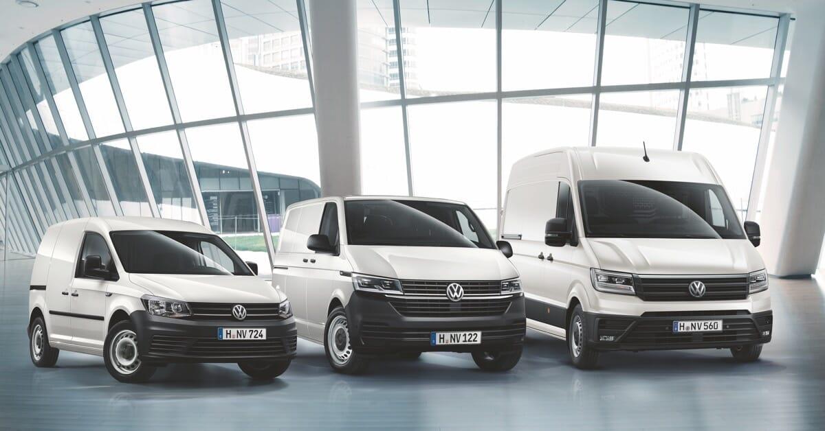 Volkswagen Caddy, Crafter, Transporter in Weiß