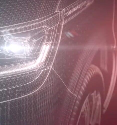 Volkswagen Transporter Frontlicht CAD Entwurf