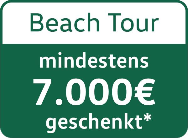 VW California Beach Tour 7000€ Messe Rebatt
