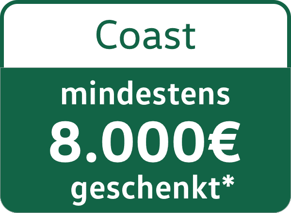 VW California Coast 8000€ Messerebatt