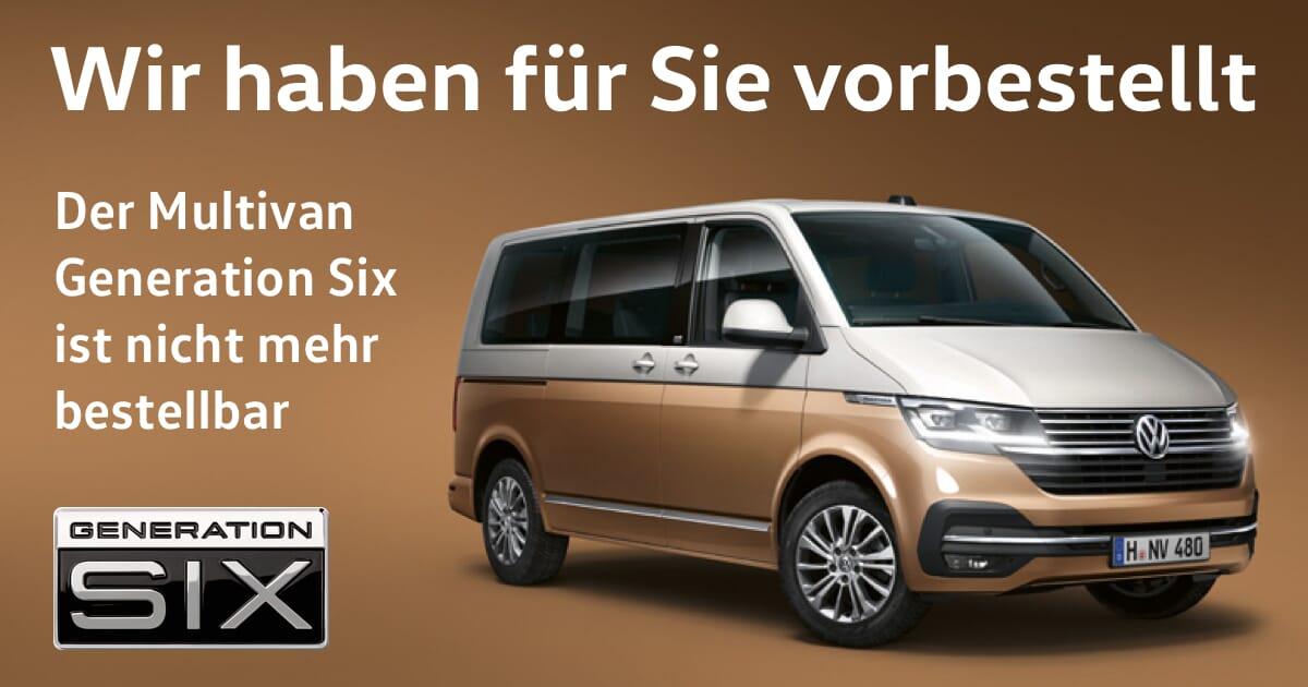 Der VW Multivan Generation 6 list nicht mehr bestellbar