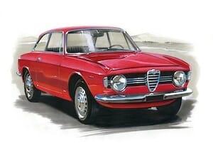 Alfa Romeo GT 1750 Zeichnung