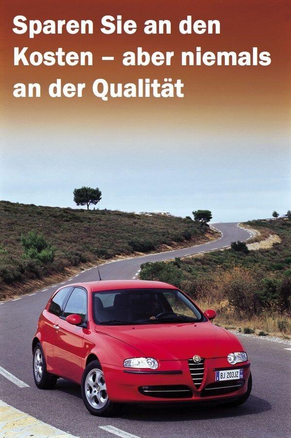 Alfa Romeo Sparen Sie an den Kosten – aber niemals an der Qualität